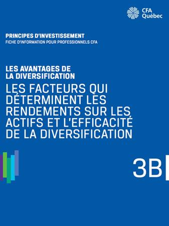Apperçu de la couverture de Les facteurs qui déterminent les rendements sur les actifs et l'efficacité de la diversification