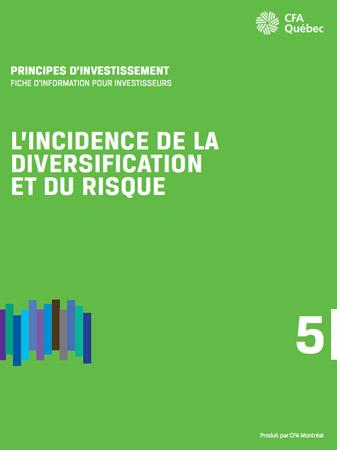 Apperçu de la couverture de L'incidence de la diversification et du risque